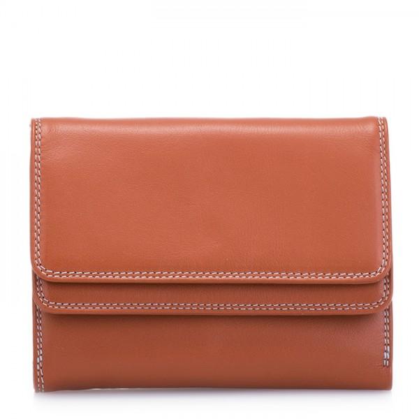 Double Flap Wallet Tan