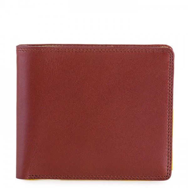 RFID Standard E/W Men's Wallet Brown-Yellow