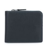 Wallet w/Middle Zip Section Black Smokey Grey