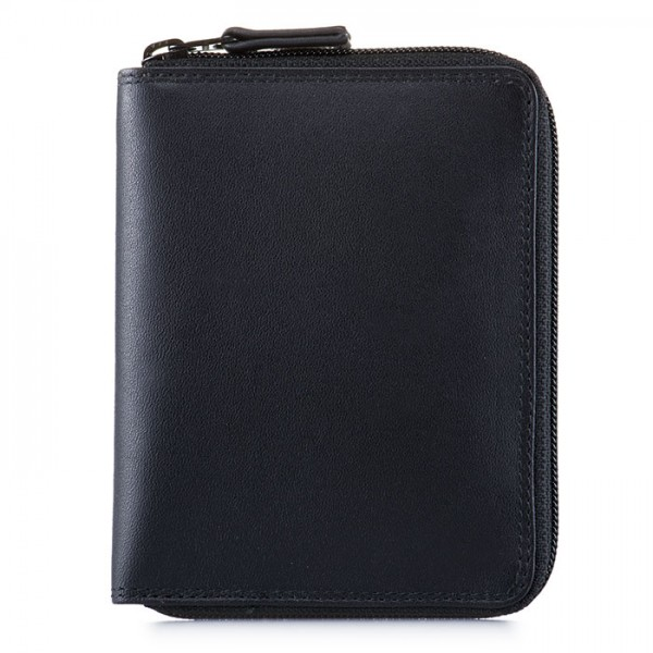 Men's Coin Tray Wallet Black
