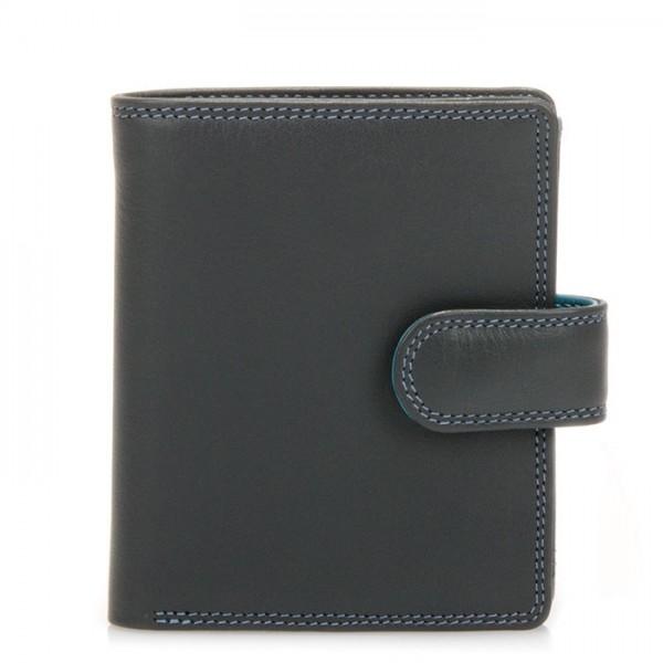 Dreifach faltbare Geldbörse mit Verschlusslasche Smokey Grey