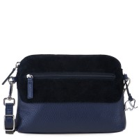 Pompei Zip Top Cross Body Blue