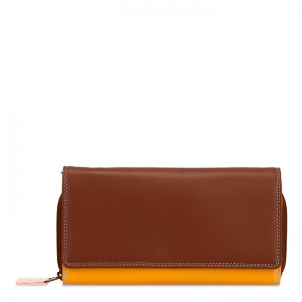 Large Flapover Zip Purse Siena