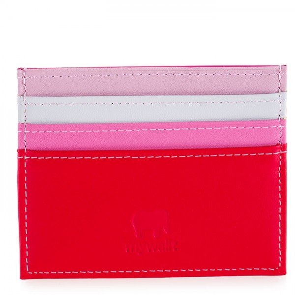 Double Sided Credit Card Holder Ruby