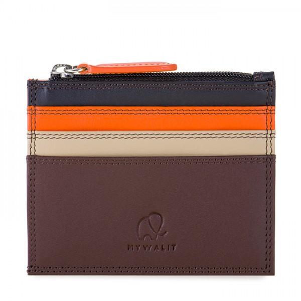 Credit Card Holder w/Zip Pocket Cacao