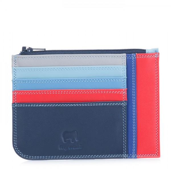 Slim Credit Card Holder with Coin Purse Royal