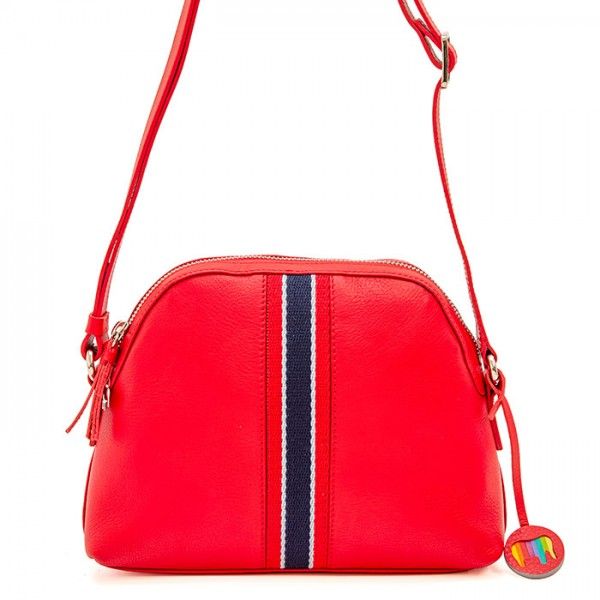 San Diego Crossbody Half Moon Bag Red