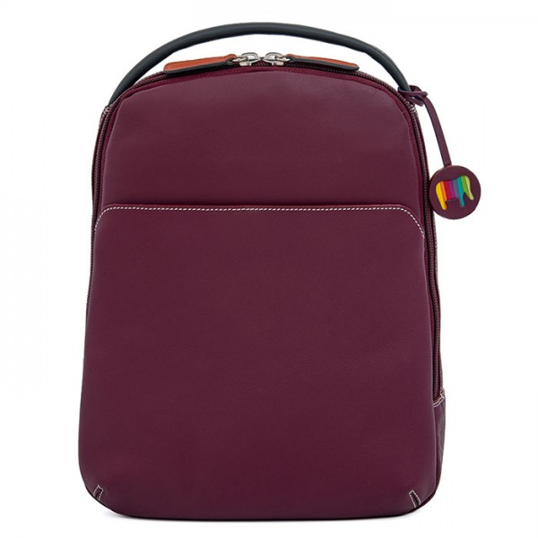 Office Large Leather Cross Body Backpack Chianti