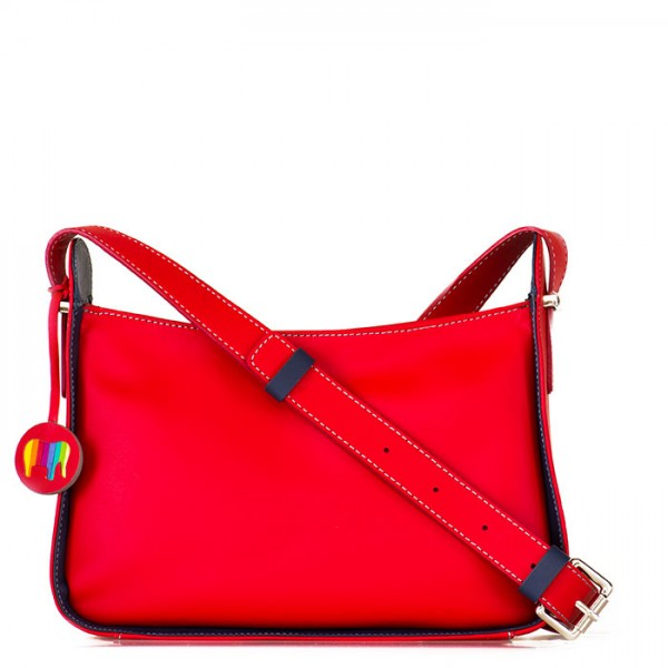 Amarante Zip Top Crossbody Red