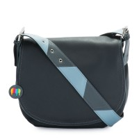 Riga Satchel Black Smokey Grey