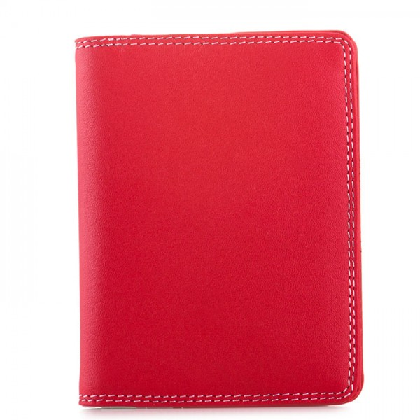 Credit Card Holder w/Plastic Inserts Ruby