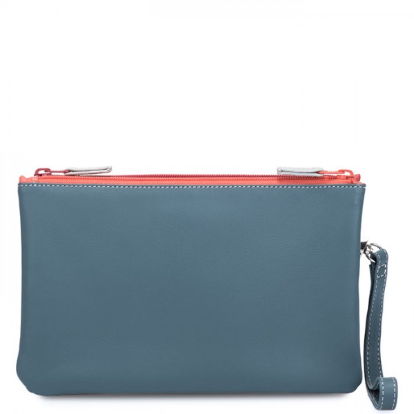 Small Double Zip Pouch Urban Sky