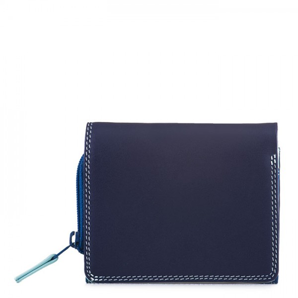 Flapover Coin Purse Denim
