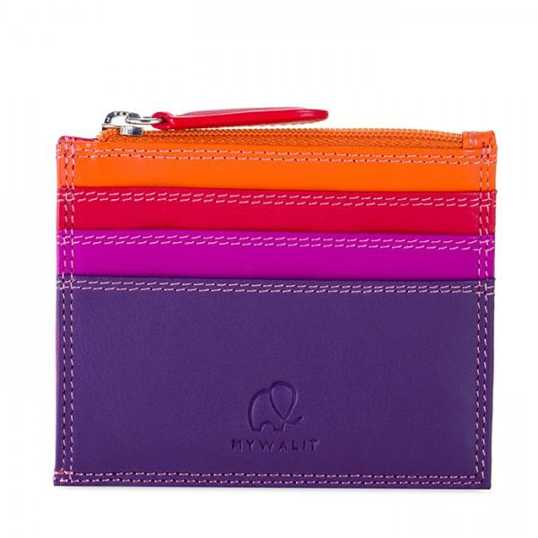 Credit Card Holder w/Zip Pocket Sangria Multi