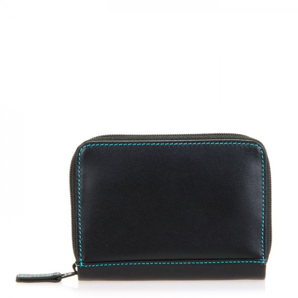 RFID Zipped Credit Card Holder Black Pace