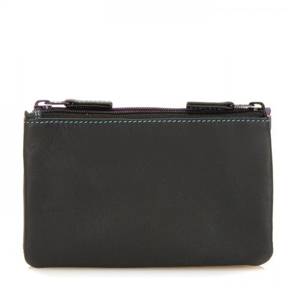 Porte-monnaie à double zip Black Pace