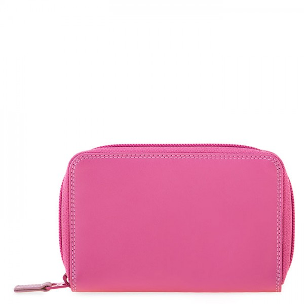 Medium Leather Zip Around Wallet Ruby