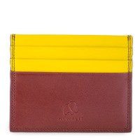 RFID Double Sided CC Holder Brown-Yellow