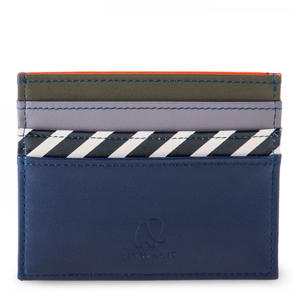 Venice Double Sided Credit Card Holder Navy