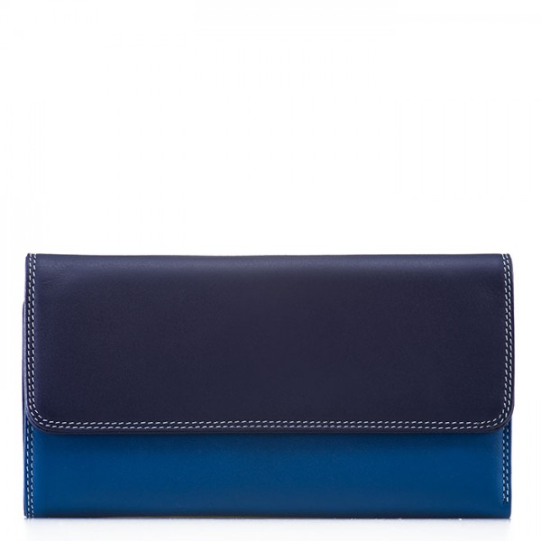 Tri-fold Zip Wallet Denim