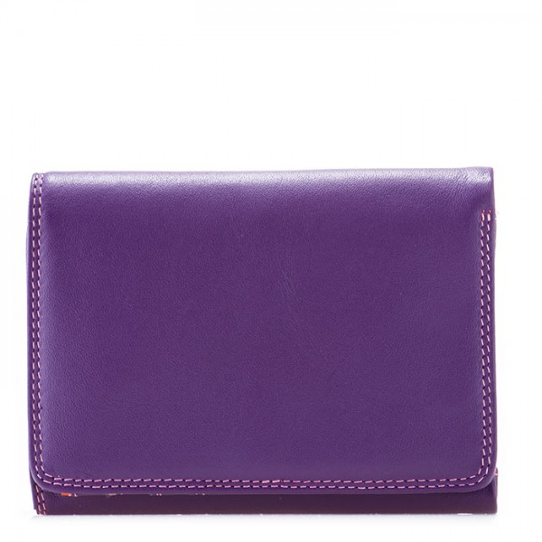RFID Small Tri-fold Wallet Purple