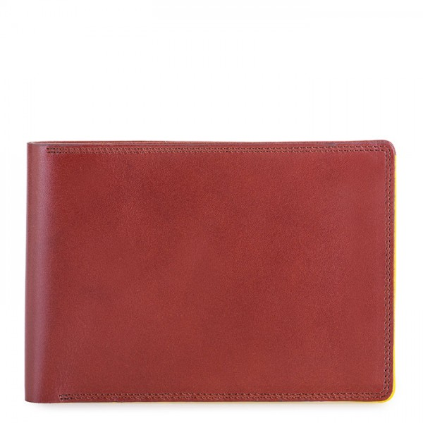 RFID Men's Passport Wallet Brown-Yellow