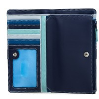 12 CC Zip Wallet Denim