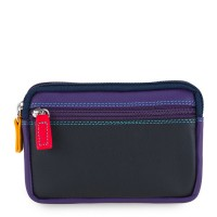 Small Leather Double Zip Purse Black Pace