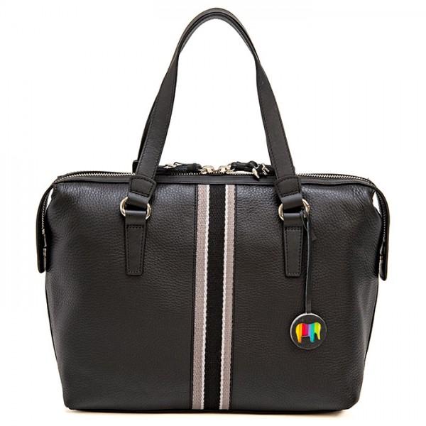 San Diego Barrel Bag Black