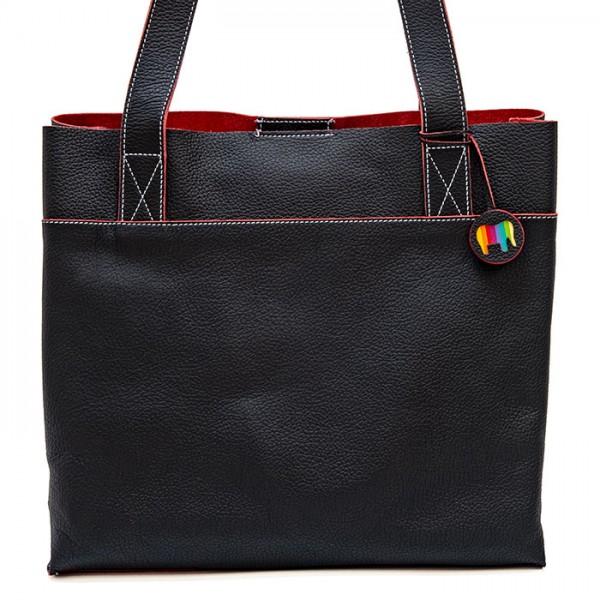 Vancouver Medium Leather Tote Black