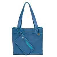 Vancouver Medium Leather Tote Cobalt