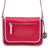 Montreal Small Leather Flapover Bag Strawberry