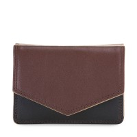 Tri-fold Leather Wallet Cacao