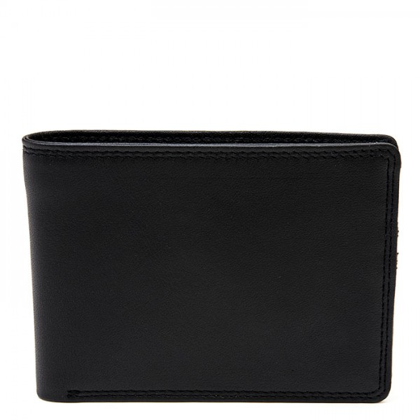 Men's Jeans Leather Wallet Black