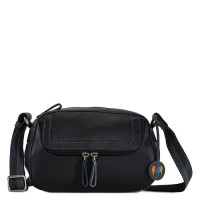 Seoul Small Shoulder Bag Black Smokey Grey