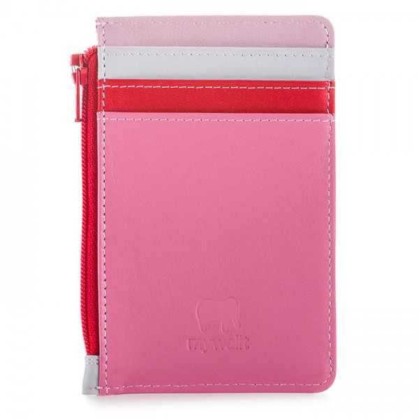Credit Card Holder with Coin Purse Ruby