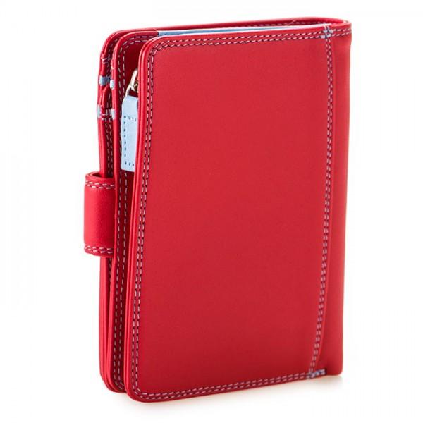 RFID Medium Snap Wallet Red
