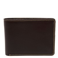 Men's Jeans Leather Wallet Safari Multi