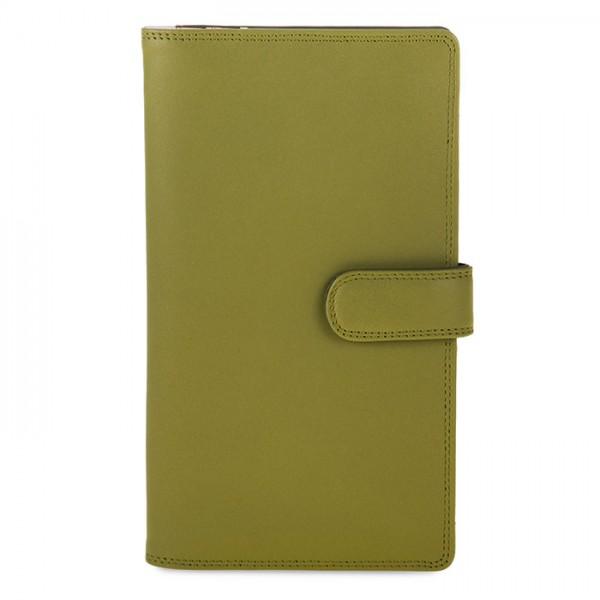 Large Tab Tri-fold Wallet Olive