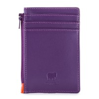RFID Credit Card Holder with Coin Purse Purple