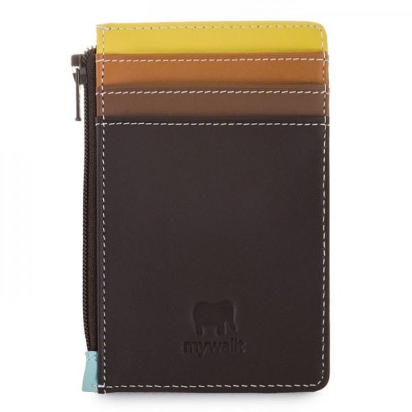 Porta carte di credito con portamonete Mocha