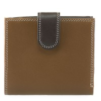 Tab and Flap Wallet Mocha