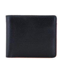 RFID Standard Men's Wallet with Coin Pocket Black-Orange