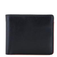 RFID Standard Men's Wallet with Coin Pocket Black-Orange