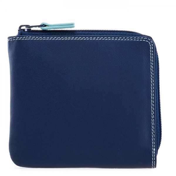 Small Zip Around Wallet Denim
