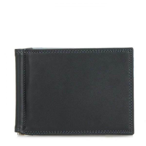 Money Clip Wallet Black Smokey Grey