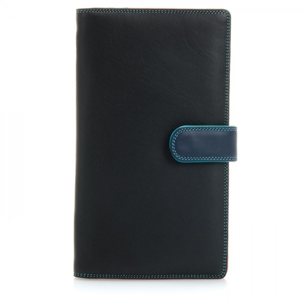 Large Tab Tri-fold Wallet Black Pace