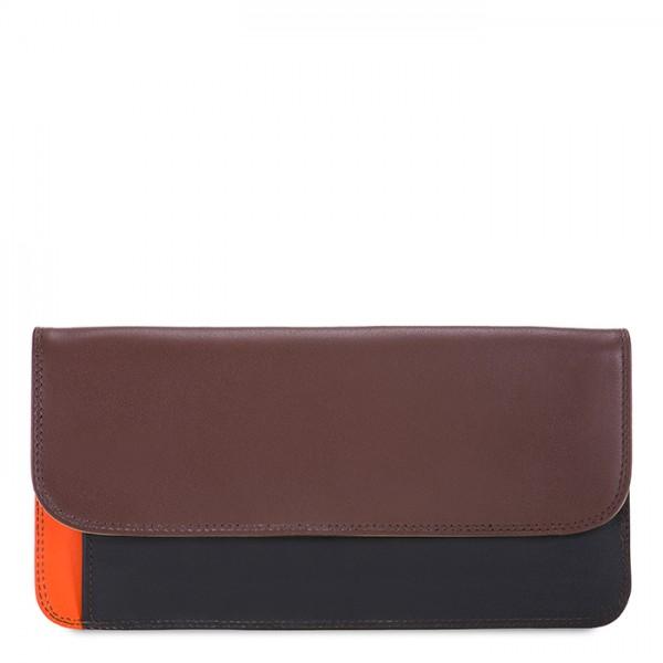 Cartera/billetera sencilla con solapa Cacao