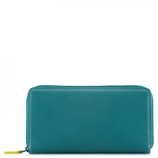 Large Double Zip Wallet Mint