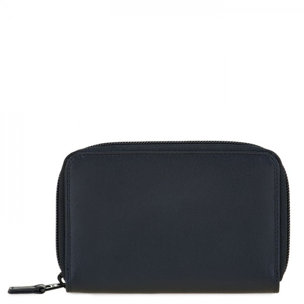 Medium Leather Zip Around Wallet Burano